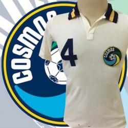 Camisa retrô Cosmos de Nova York branca gola polo- 1977