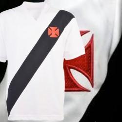 Camisa retrô Vasco da Gama  Tradicional branca - 1970