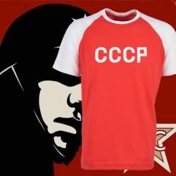 Camisa retrô CCCP  vermelha