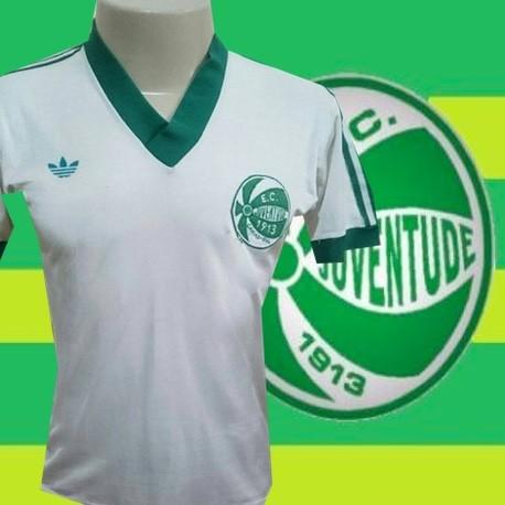 Camisa retrô Juventude  gola verde 1980.