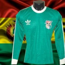 Camisa retrô Bolivia logo  verde  ML - 1980