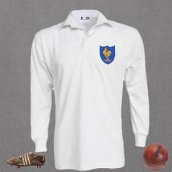 Camisa seleção Françesa de rugby  manga longa 1980