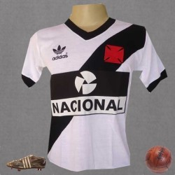 Camisa retrô Vasco Banco Nacional  -1984