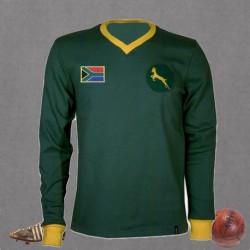 Camisa  retrô  de rugby  Africa do Sul L 1980.