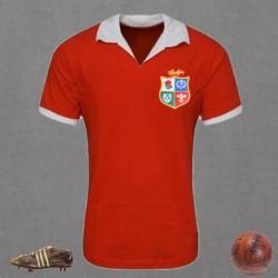 Camisa retrô de rugby British and Irish lions