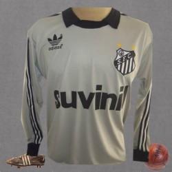 Camisa retrô  cinza  goleiro Santos  Suvinil