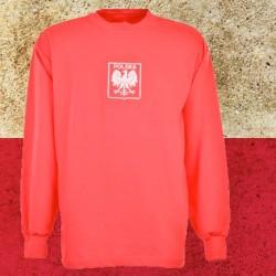 Camisa retrô Polonia vermelha ML  - 1972