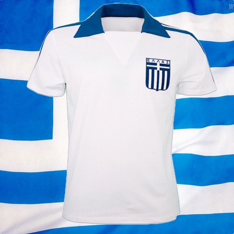Camisa Retrô Grécia branca 1980