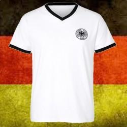 Camisa retrô da Alemanha gola V - 1974