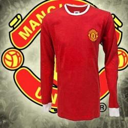 Camisa retrô  Manchester United gola redonda  ML - ENG