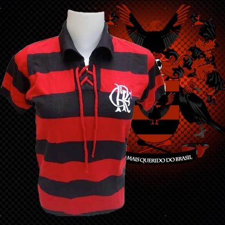Camisa retrô baby look Flamengo tradicional