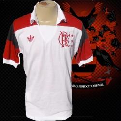 Camisa retrô Flamengo branca - 1984