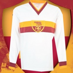 Camisa Retrô   AS Roma ML  tradicional- ITA