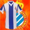 Camisa retrô Barcelona manga longa