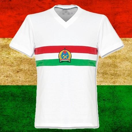 Camisa retrô Hungria  branca 1950