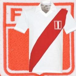Camisa retrô  Peru  gola polo-  1978