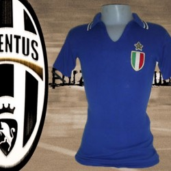 Camisa retrô  Juventus  azul  -1981