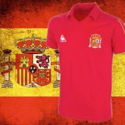 Camisa retrô   Espanha  le coq 1984