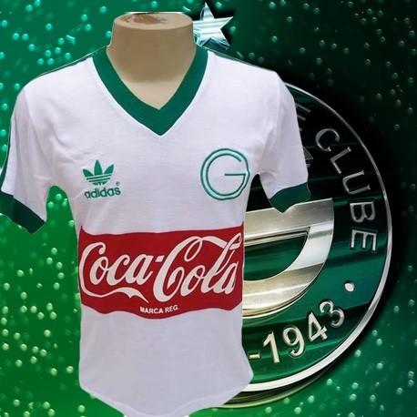 Camisa retro Goiás logo branca 1987