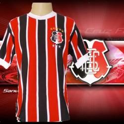 Camisa retrô Santa Cruz tricolor gola redonda -1970