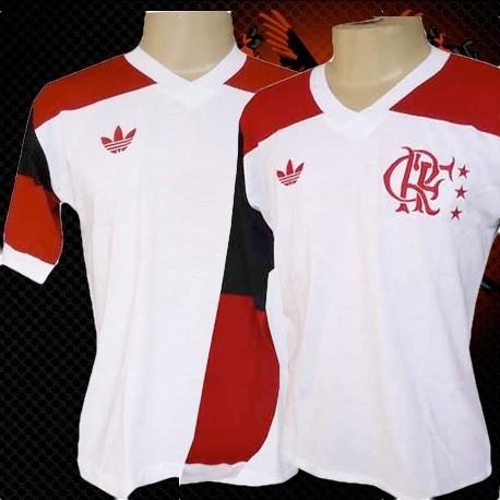 Camisa retrô Flamengo branca - 1980