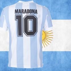 Camisa Retro  Listrada Argentina Maradona - 1982