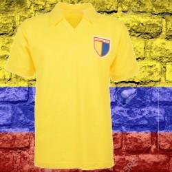 Camisa retrô da Colombia amarela