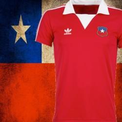 Camisa retrô Chile    vermelha -1982