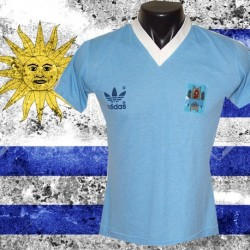 Camisa retrô Uruguai Logo  - 1980