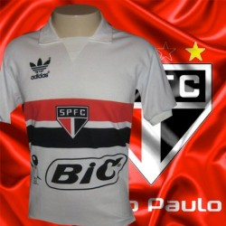 Camisa retro São Paulo branca - BIC