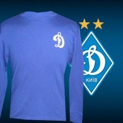 Camisa retrô   Dynamo Kiev azul ML - RUS