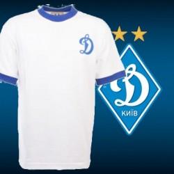 Camisa retrô   Dynamo Kiev   branca 1974  - RUS