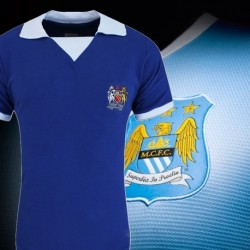 Camisa retrô Manchester city  azul royal - ENG