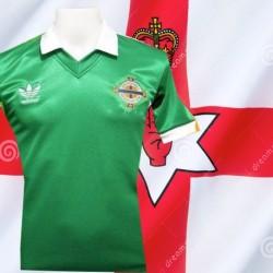 Camisa retrô Irlanda verde -1986