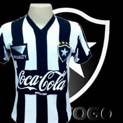 Camisa retrô Botafogo Penalty coca cola preta 1991 .