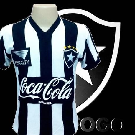 Camisa retrô Botafogo  1991 - Penalty coca cola preta