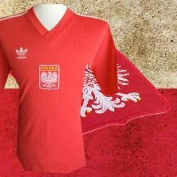 Camisa retrô Polonia   vermelha logo - 1974