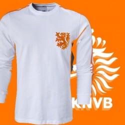 Camisa retrô Holanda branca ML - 1978