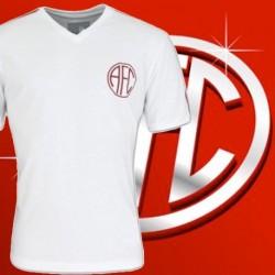 Camisa retrô América branca gola V RJ. 1980