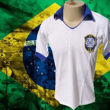 Camisa Retrô Seleção Branca - 1950
