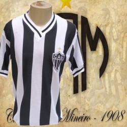 Camisa retrô listrada Atletico Mineiro 1982