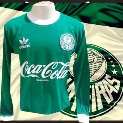 Camisa Palmeiras manga longa logo gola redonda - 1989 -91