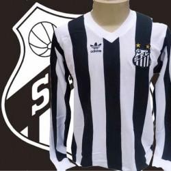 Camisa retrô Santos Logo ML - 1983