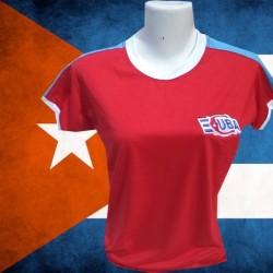 Baby look retrô Seleção de  Cuba.