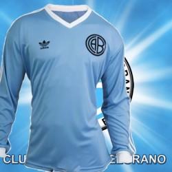 Camisa Retrô Belgrano logo azul  ML- ARG