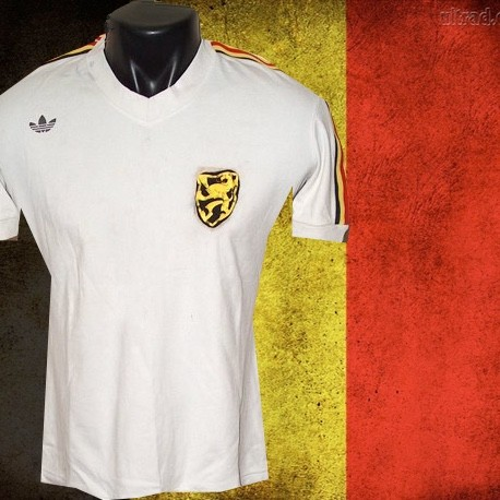 Camisa Retrô Belgica  branca  - BEL