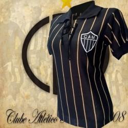 Baby look retrô  Atlético dourada