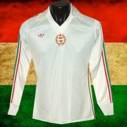 Camisa retrô Hungria  branca logo 1980 -ML