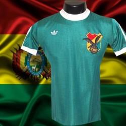 Camisa retrô Bolivia logo  verde