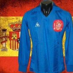 Camisa retrô   Espanha goleiro azul  ML 1984-86